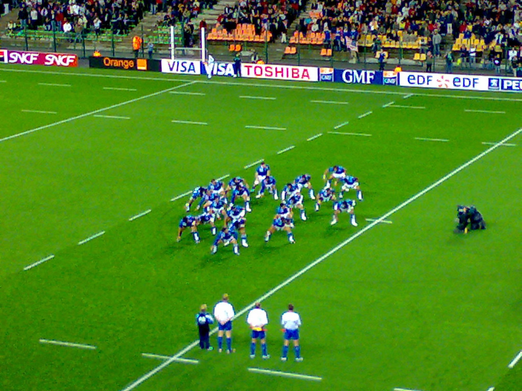 Mike went with some friends to watch Samoa v. USA in the Rugby World Cup in St. Etienne. This is the Samoan 'haka' (siva tau) performed at the beginning of the game.