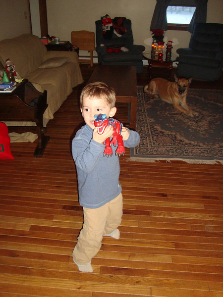 Jack loved this dinosaur. One of the MANY toys that Brian offered to simply give to him.
