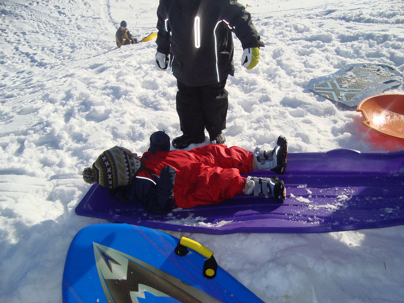 Sledging is easy!