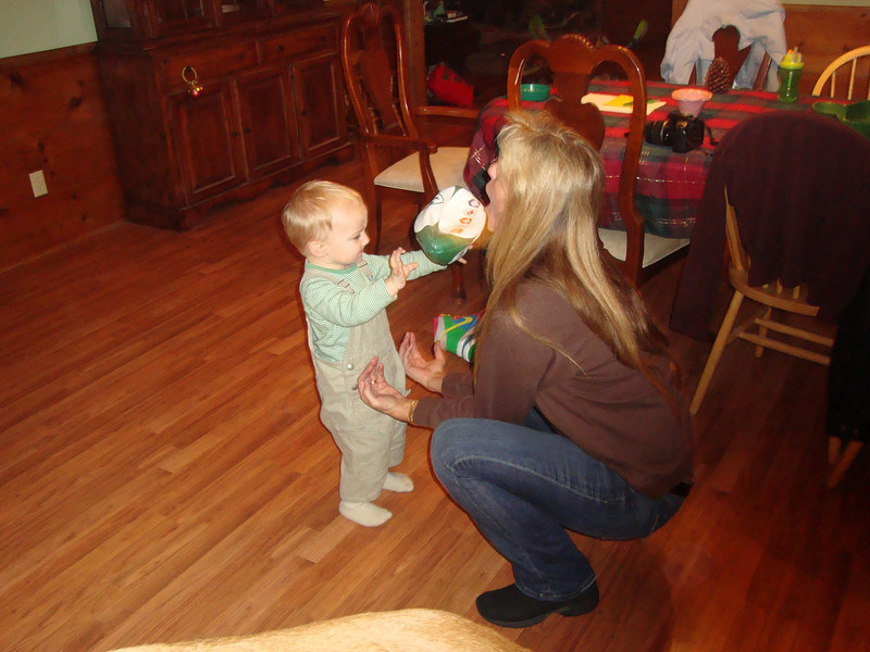 Playing 'catch' with Nanny