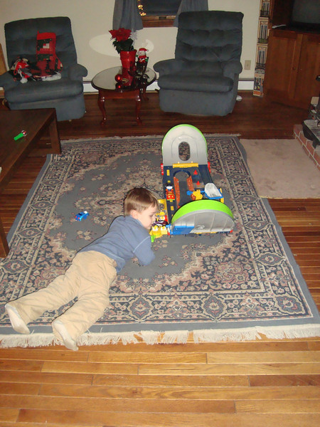 Jack had a great time with all of Liam & Brian's toys which they shared without complaint