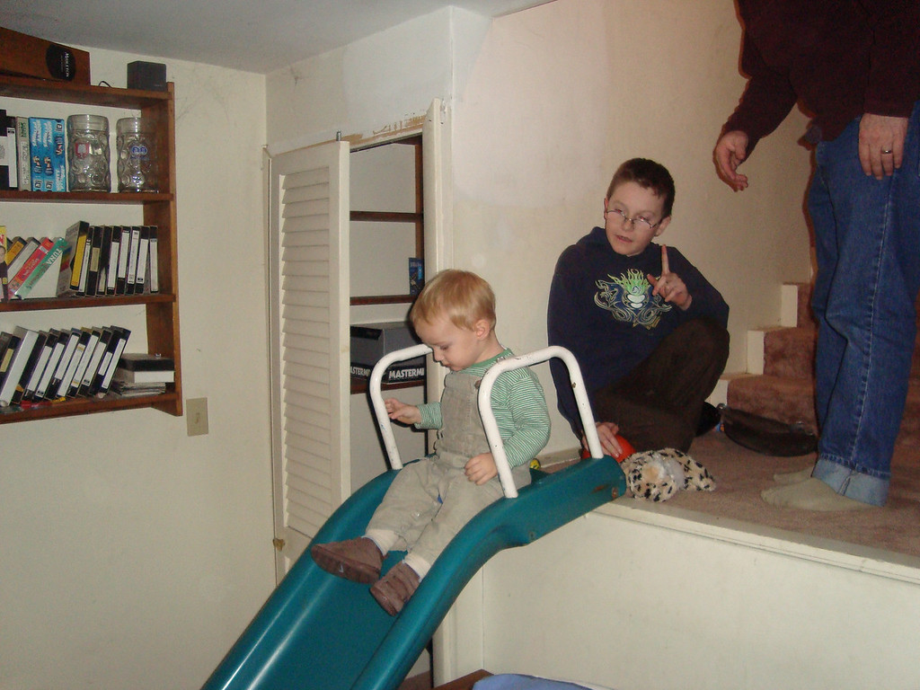 The slide in the basement was definitely one of Danny's favourite things