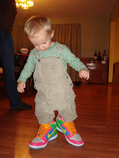 Danny loved Sammie's colourful shoes