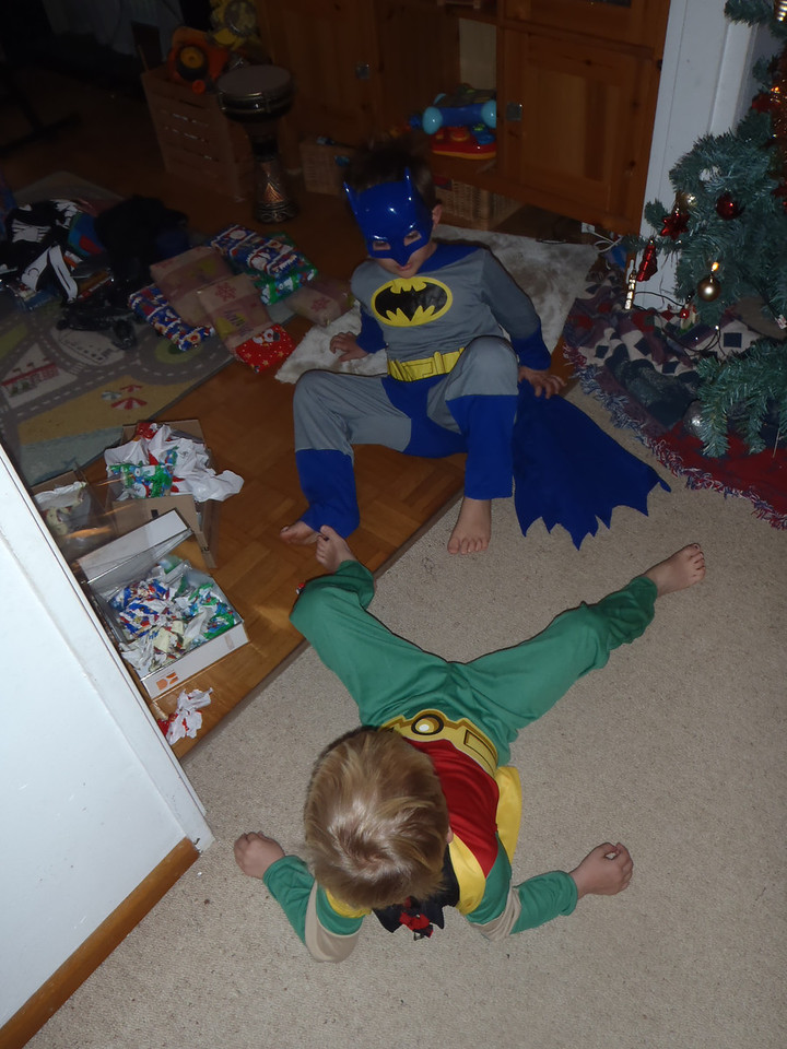 Christmas Day is no rest day for superheroes!