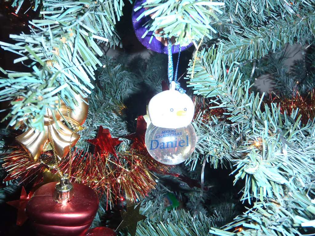 Merry Christmas Daniel ornament from Grandma & Grandpa