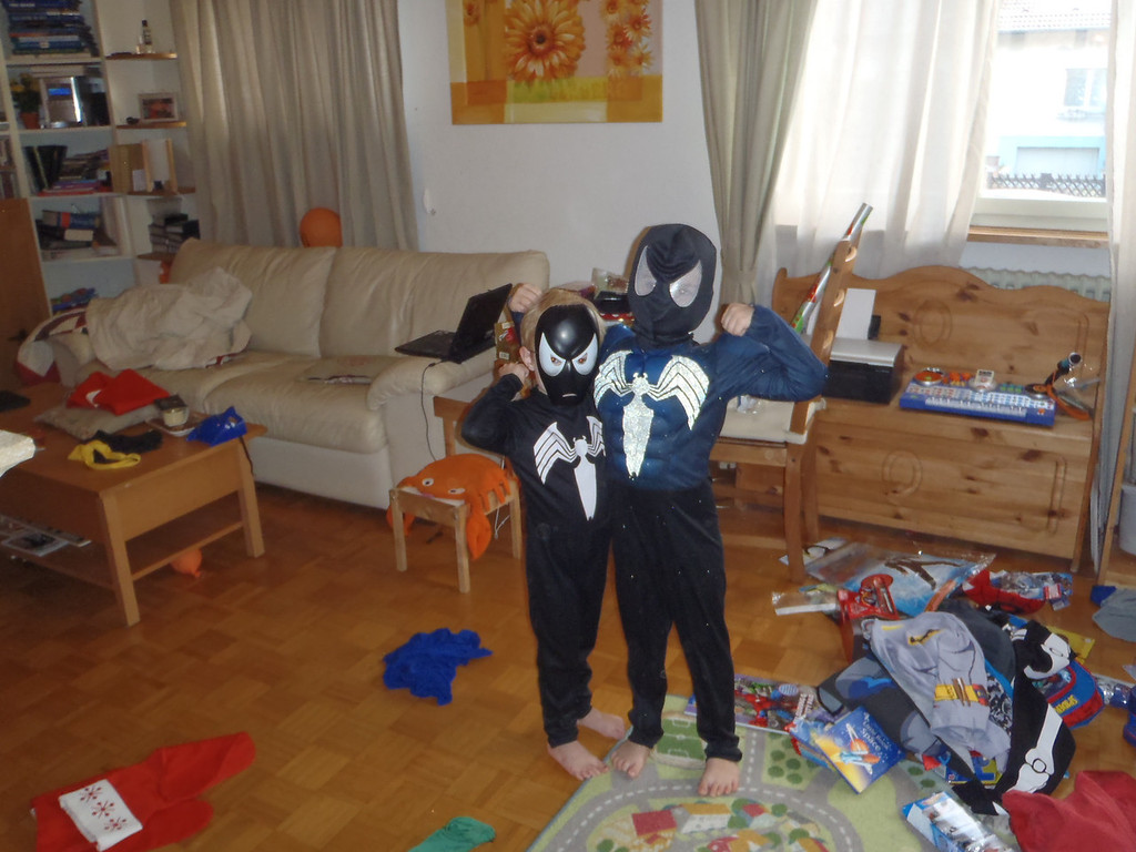 My scary black Spidermen