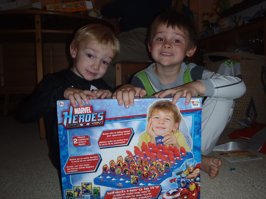 Marvel Heroes Guess Who: thanks Auntie Kate & Auntie Sue!