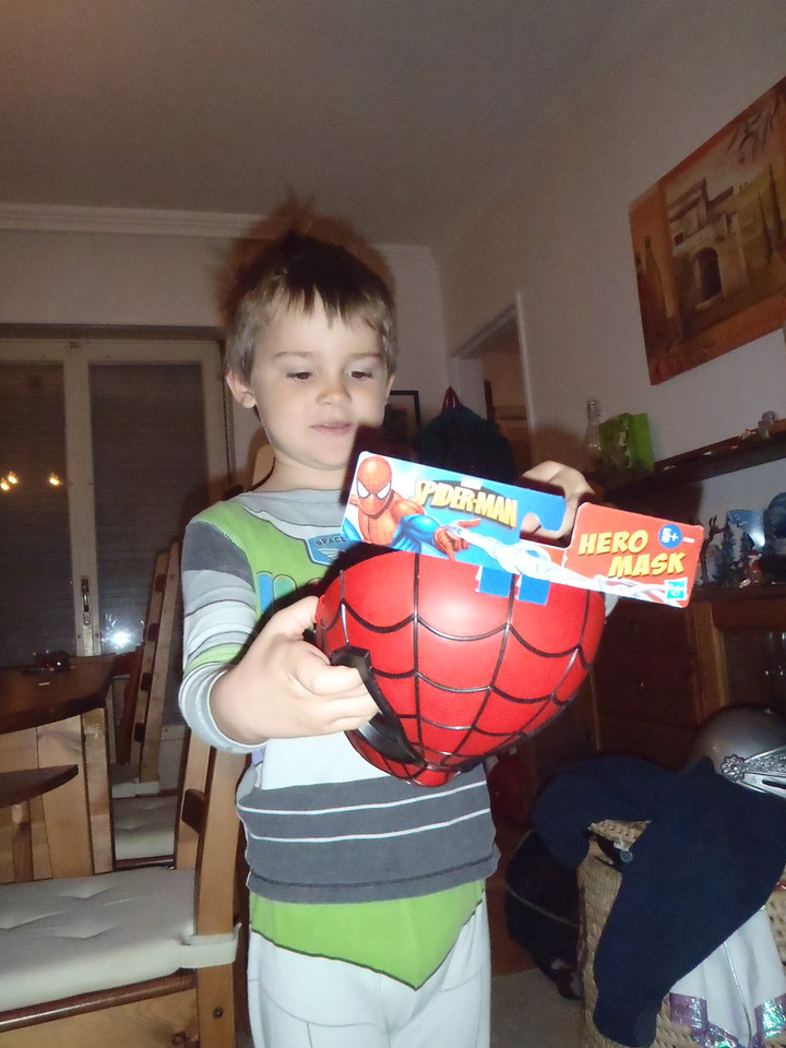 A spiderman mask!