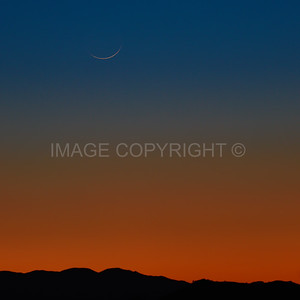 Crescent Moon Setting over the Grand Canyon
