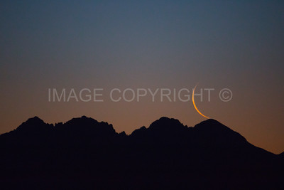 Moonrise over Four Peaks Mountain 3