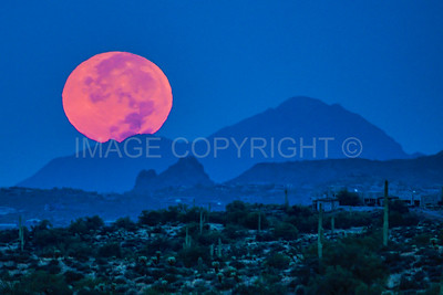 Full Moon Setting over Camelback Mountain