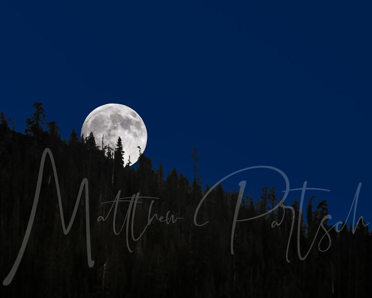 Moon Rise over Kings Canyon