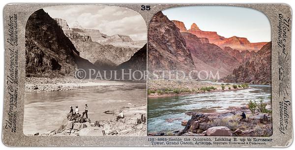 Grand Canyon National Park, Colorado River at base of Bright Angel Trail.