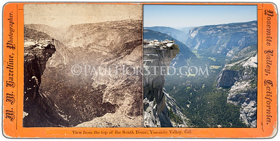 Yosemite National Park, view from summit of Half Dome.