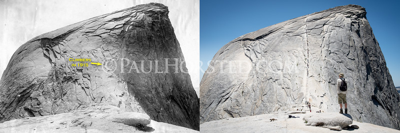Yosemite National Park, climbing Half Dome (cables in modern view.)