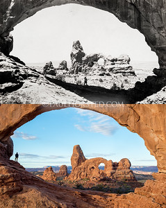 Arches National Park, through North Window Arch toward Turret Arch.