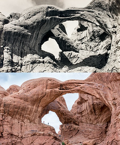 Arches National Park, Double Arch.