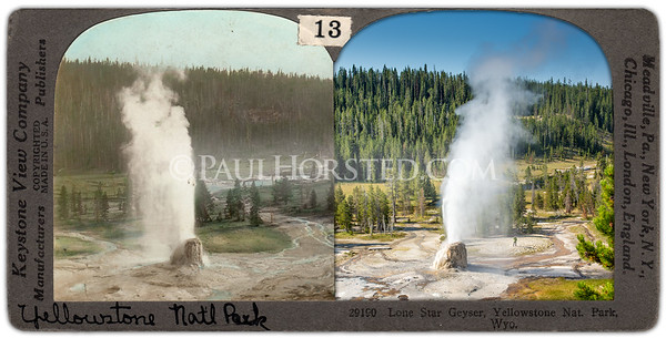 Yellowstone National Park, Lone Star Geyser.