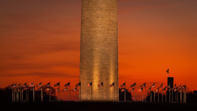 Sunrise at the WAshington Monument