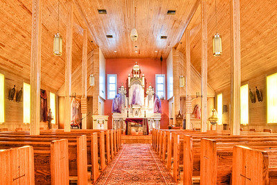 Interior of St. Joseph Catholic Church Stoneham, Texas February 21, 2010