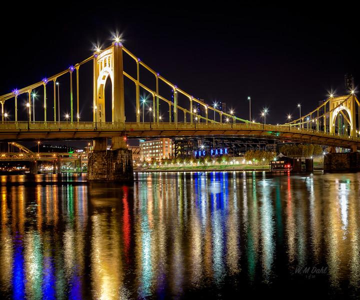 Three Rivers Light Show by Bill Dahl