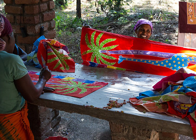 Tribal Textiles Artists showing off their work