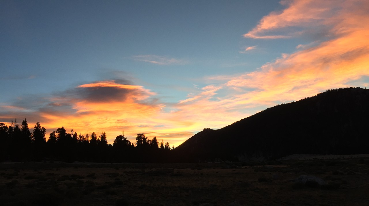 Sunrise from the campground meadow
