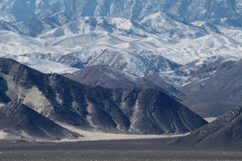 The view on the drive into Eureka Dunes.