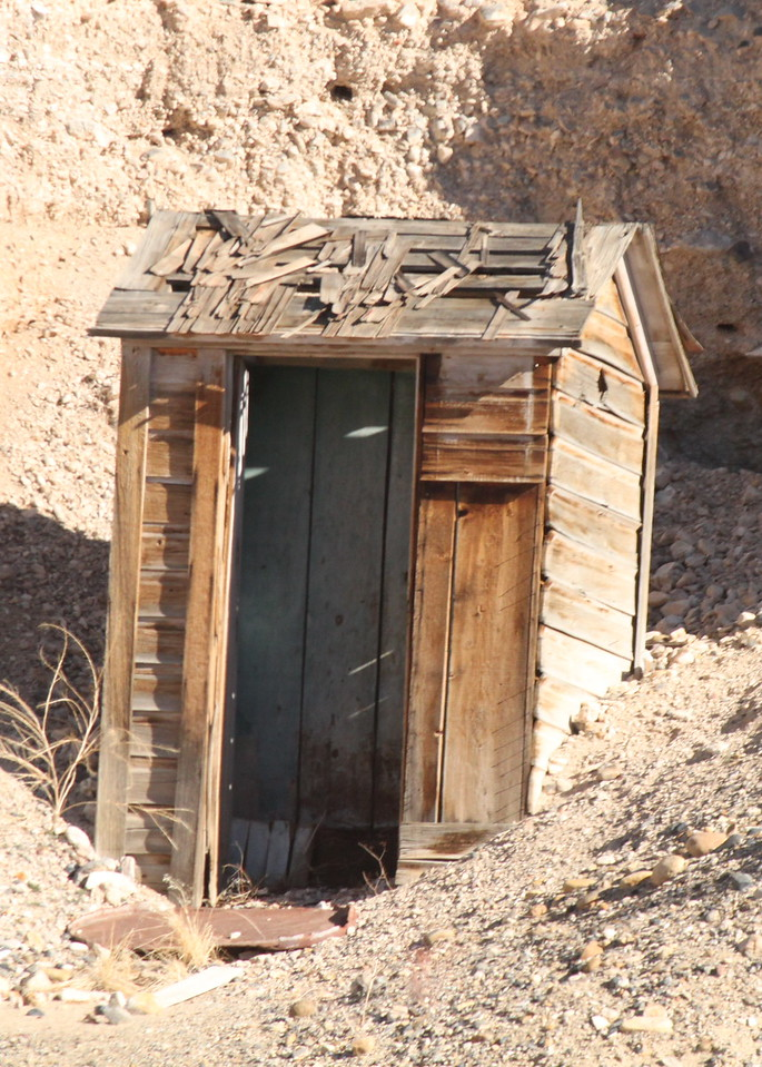 The remains of an outhouse somewhere along Big Pine Road in northern Death Valley.