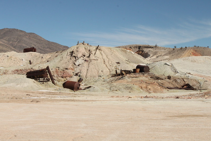 The remains of an old mining operation along Big Pine Road in northern Death Valley NP.