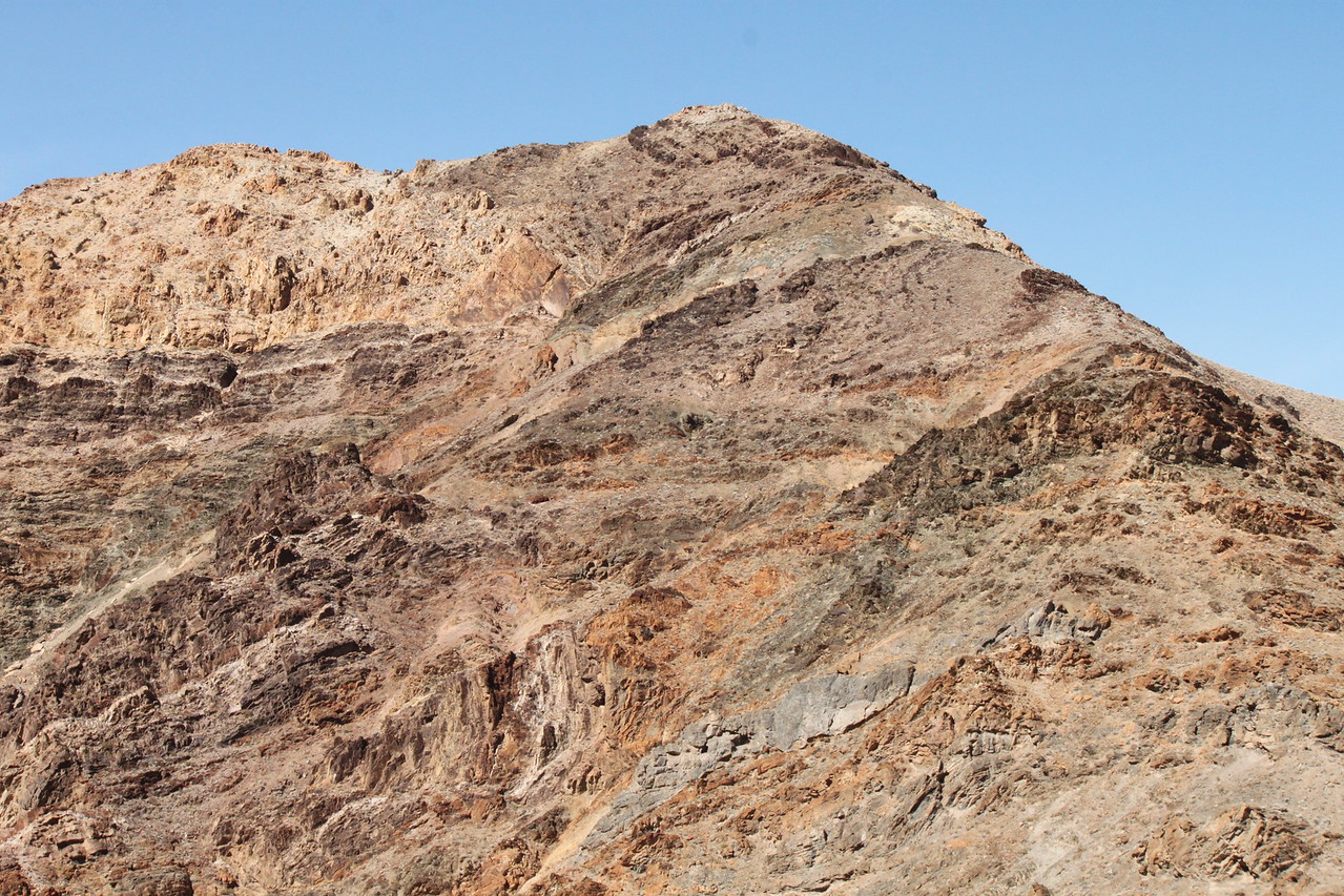 The fascinating colors of Death Valley's bare mountains...