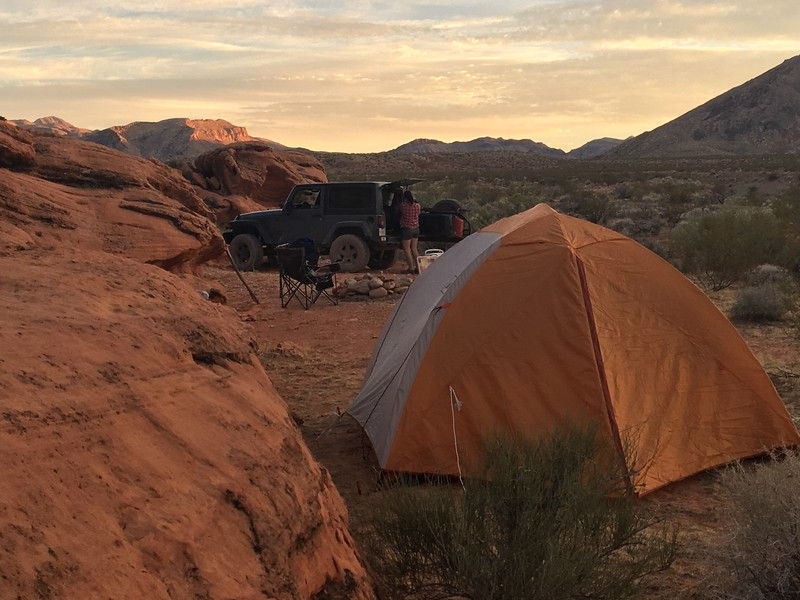 Our campsite on the backside of the Gold Butte NM loop.