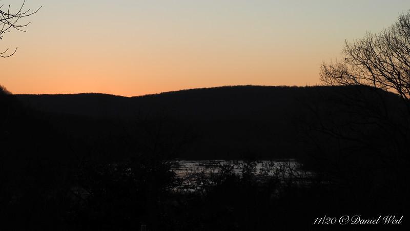 Virginia hills across the Potomac River