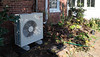 The new heat pump, for which I had to dig up Cleopatra the Polygonatum kingianum, and severely lecture the rambler rose.