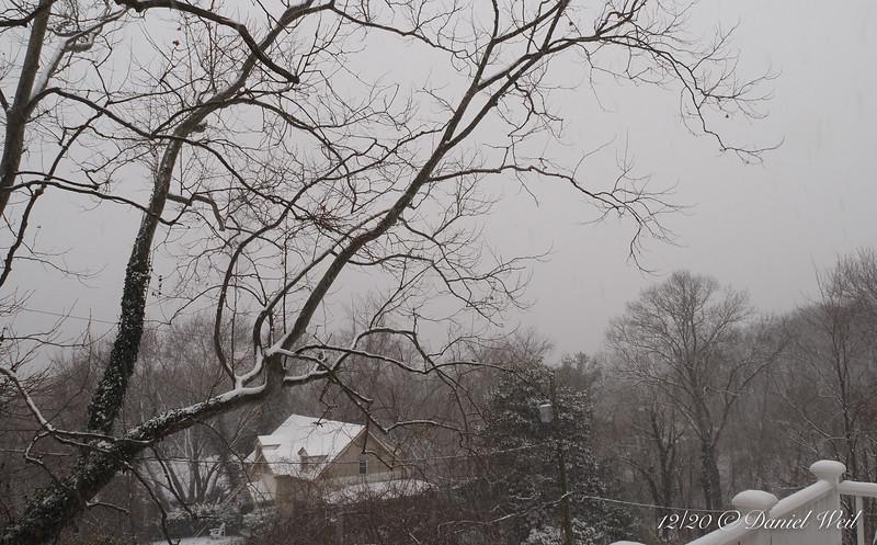 Beginning of snow