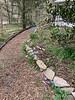 Path to W of Dan's studio 3/2020 mulch over gravel over earth