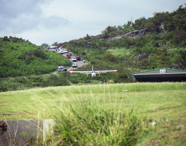 Landing in St. Barts.  1995