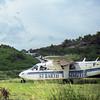 Landing in St. Barts.  1995