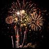 Fireworks over Chase Field, Phoenix, Arizona