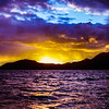 Sunrise over Nevis.  Nevis, BWI. 1995