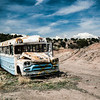 Bus Stop.  New Mexico. 1990
