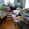 Quilts were dropped off at three different locations a week before the show.  This is the collection at one location.