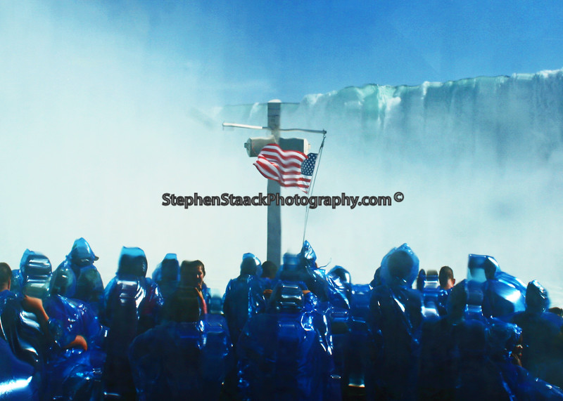 """Aboard  """"Maid of the Mist"""" as it approaches the Canadian Falls."""