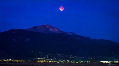 Lunar Eclipse Pikes Peak