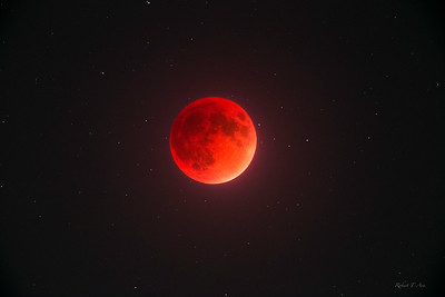 Lunar Eclipse and Background of Stars