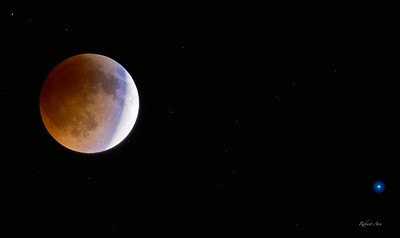 Eclipsed Moon to Spica