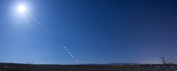 Eclipse Sequence Near Fort Collins