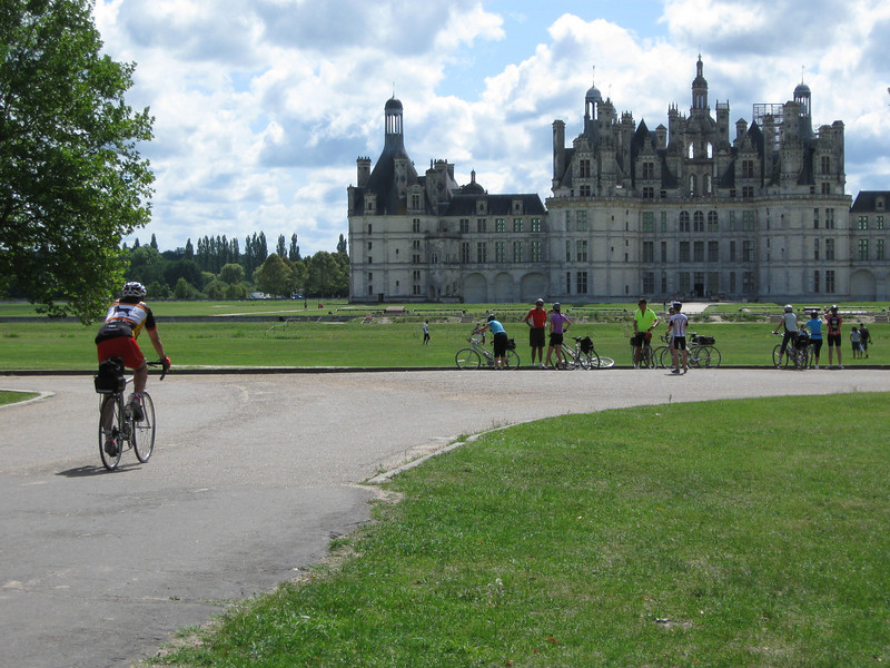Arriving at Chambord castle - one of the most impressive castle's of the Loire Valley
