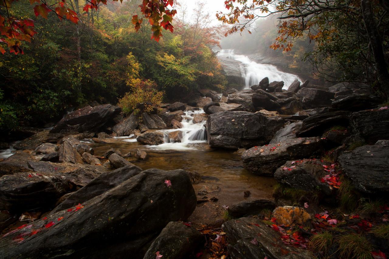Mountains - Autumn at Second Falls, Graveyard Fields, Blue Ridge Parkway, NC.