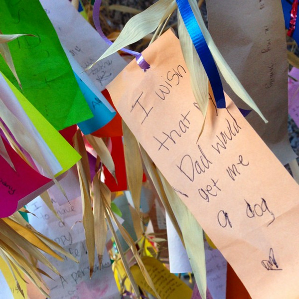 Sharing wishes in LA's Little Tokyo